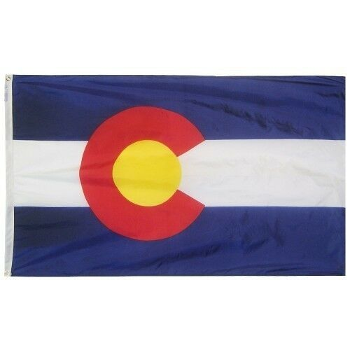 Colorado 1876 State Indoor Outdoor Parade Dyed Flag All Larger Sizes