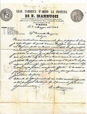 O528-FATTURA DITTA MANNUCCI FIRENZE 1863