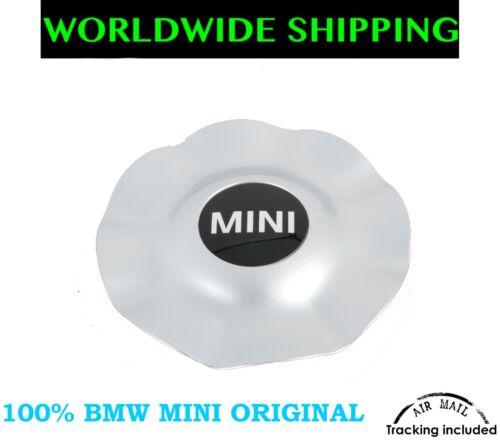 MINI R50 R52 R53 HUB CAP FOR R17 R104 ALLOY WHEELS SILVER NEW GENUINE