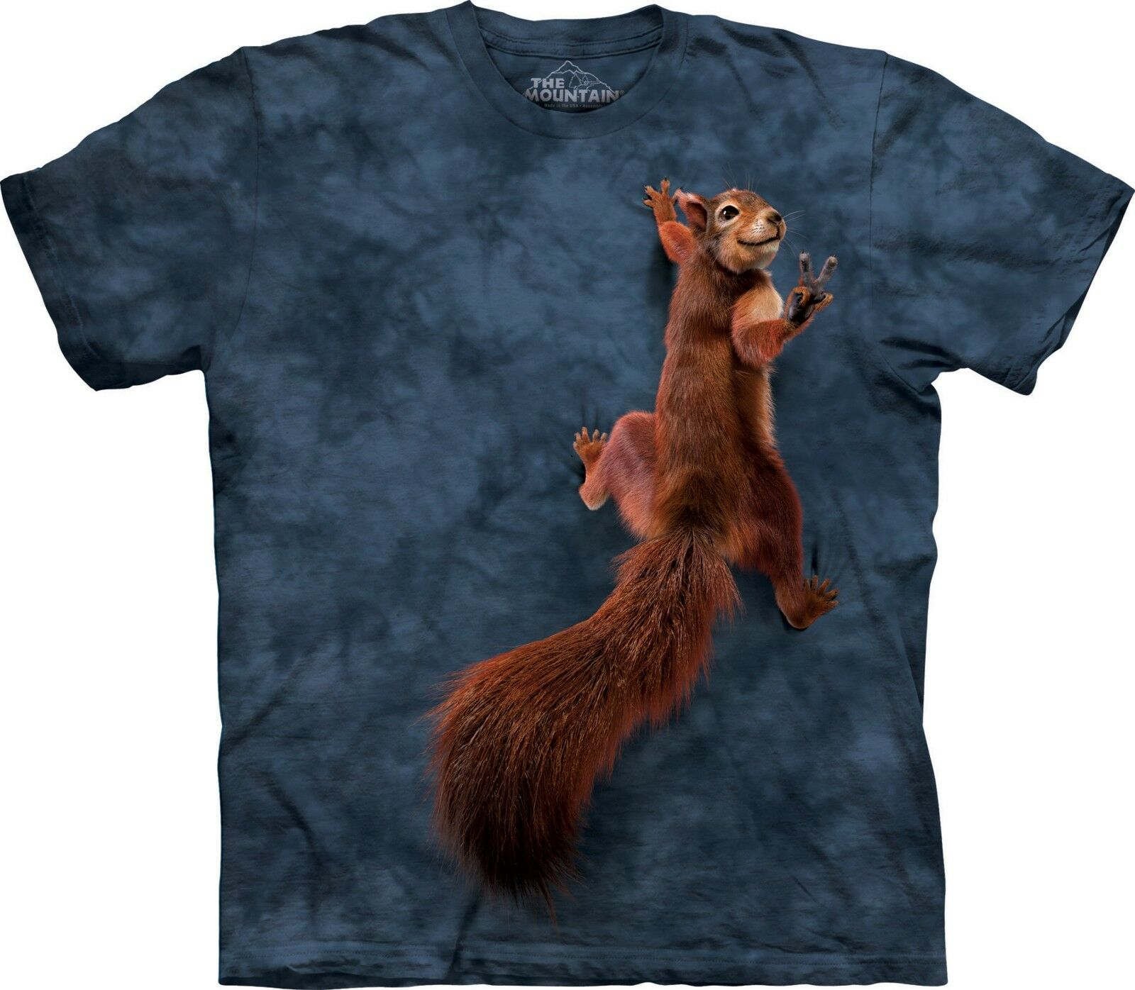 Peace Squirrel T Shirt Adult Unisex The Mountain