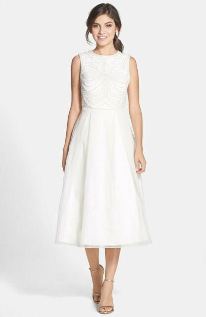 Ted Baker London 'Lalia' Embellished Bodice Midi Dress (Size 4= 12 US)