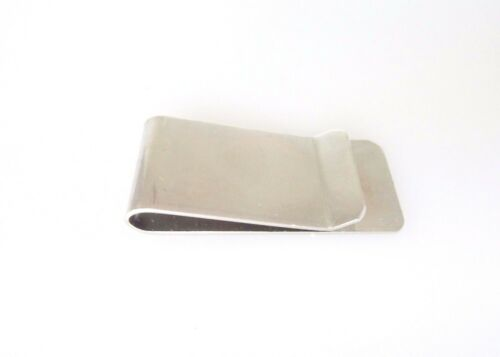 Men/'s  Brushed Stainless Steel Money Clip with Laser Cut Design