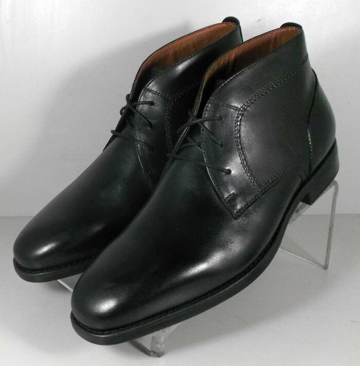 152921 SPBT 50 Chaussures Hommes Taille 9 m Noir Bottes en cuir Johnston & Murphy