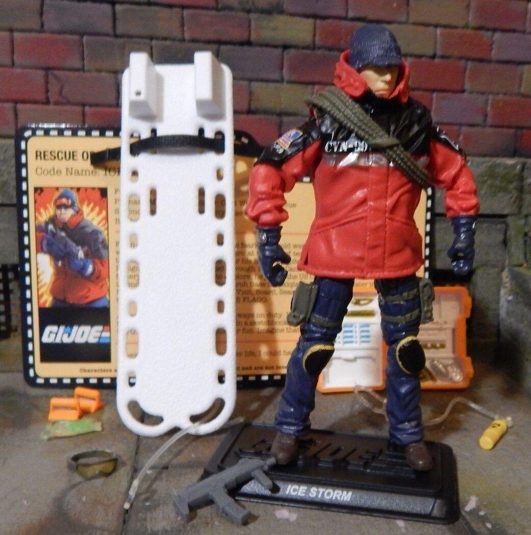 Gi Joe  2014 rescate OPS Ice Storm  Zombie Joecon 100% comp & convención de tarjeta