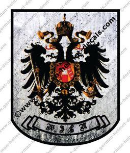Pre-aged-German-Austrian-Wien-Guard-helmet-WW2-decal-for-M18-or-M35-WWII-helmets