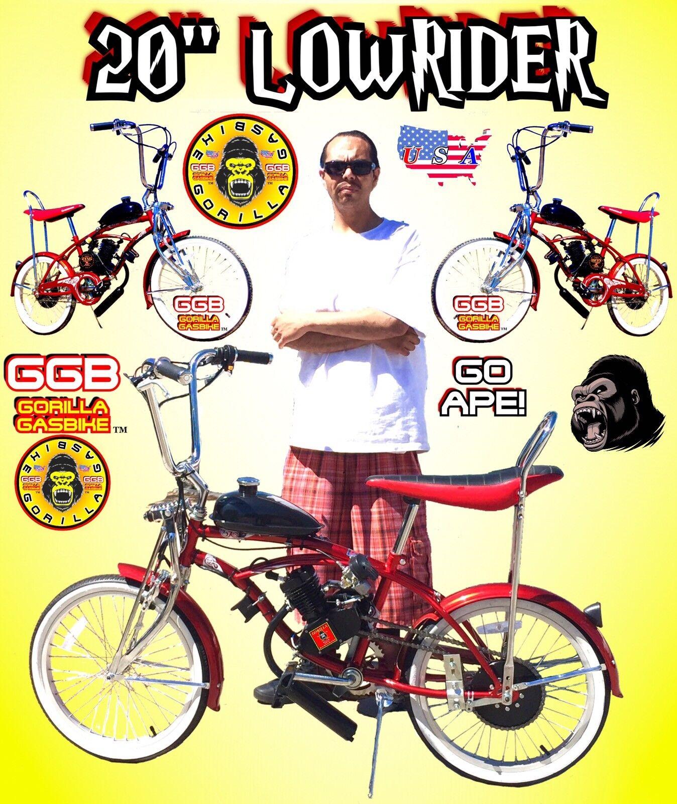 80cc DIY MOTORIZED BIKE KIT AND 20  LOWRIDER BIKE BICYCLE NEW