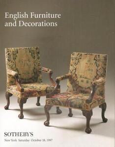 Sotheby S Sale 7029 English Furniture Decorations Auction Catalog 1997 Ebay