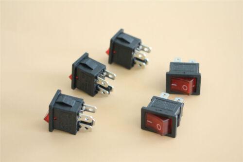 Balancent Interrupteur Interrupteur Rouge illumine un de 1 broches 250 V 6 A