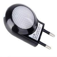 LED Plug In Socket Automatic Sensor Night Light UK 3 Pin Euro 2 Pin Indoor