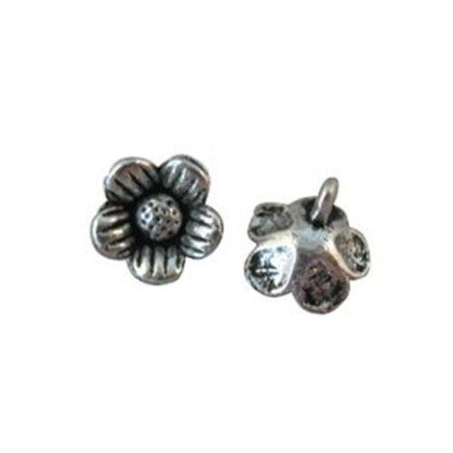 100pcs Tibetan silver flower charms A8394