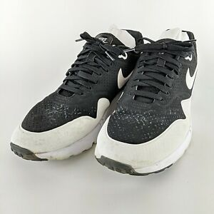 NIKE-Black-amp-White-2014-Air-Max-1-Ultra-Moire-Low-Top-Sneakers-705297-001-Sz-12
