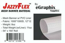 Mesh Banner Material W Liner 1000x1000 White 54 In X 160 Ft Roll