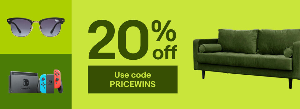 Use code PRICEWINS - More ways to win with 20% off