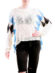 Wildfox-Frauen-NBW-Checkmate-Pullover-Natur-Boden-Groesse-S-UVP-155-BCF75