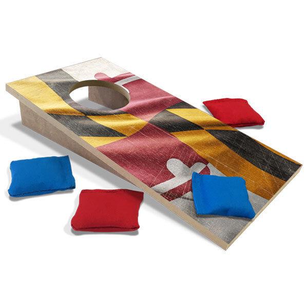 Maryland Flag Fun Size Cornhole  Set  best-selling