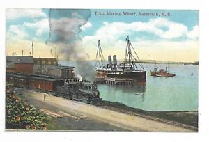 YARMOUTH-NS-Train-leaving-Wharf-Publisher-Harry-McKinlay-Yarmouth-NS