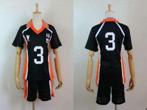 Karasuno Shyouyou High School Uniform Jersey Cosplay Costume Shirt XXL Haikyu!