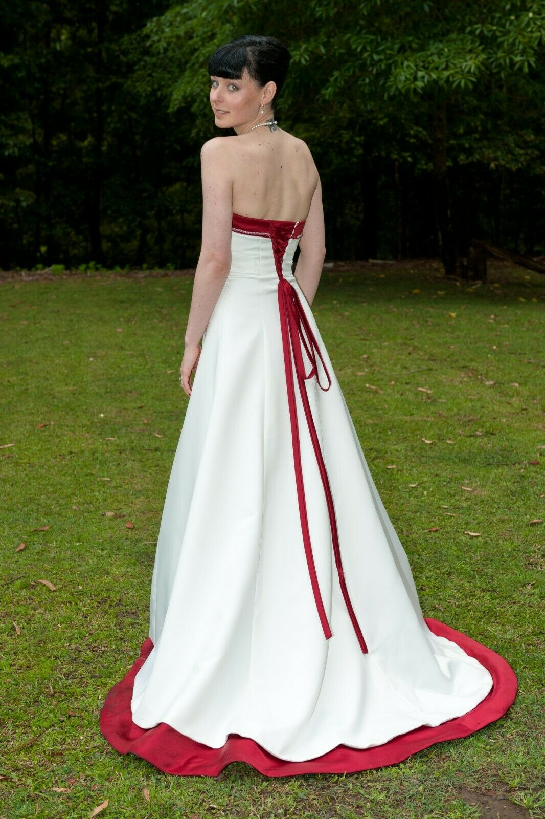 damen Formal Dress Wedding Evening Ball Gown Bridesmaid Größe 6-8
