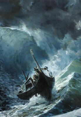 Framed Print - Viking Ship in a Storm (Picture Poster Sea ...Viking Ship Storm