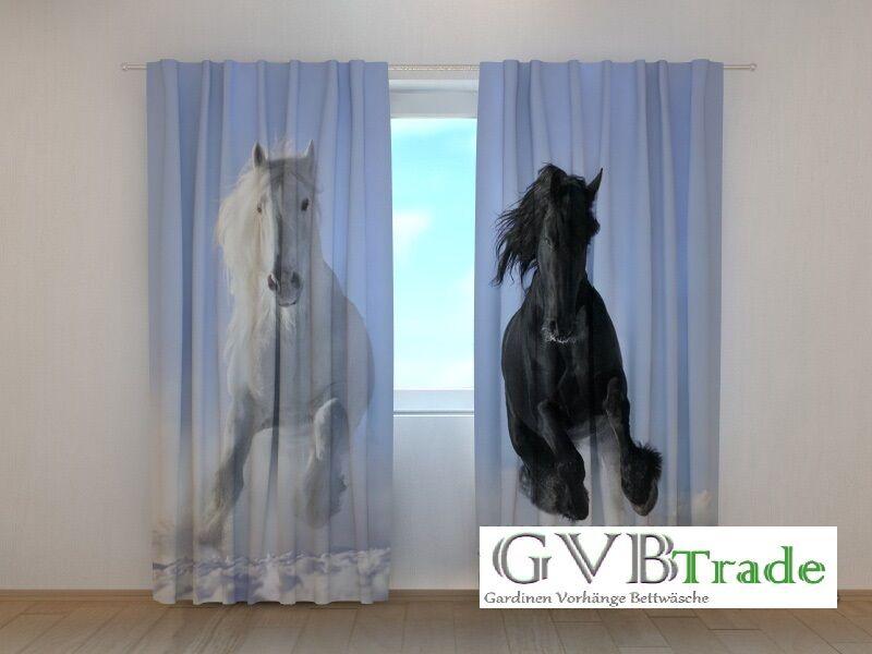 Fotogardinen Fotogardinen Fotogardinen  Pferde  Fotovorhang Vorhang Gardinen 3D Qualität Bild, Auf Maß | eine große Vielfalt  dc3193