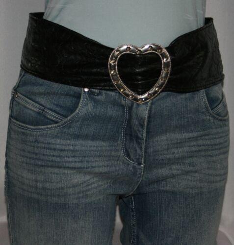 Damengürtel Hüftgürtel Taillengürtel Damen Gürtel schwarz Länge 110 cm neu