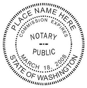 Round Notary Self Inking Seal
