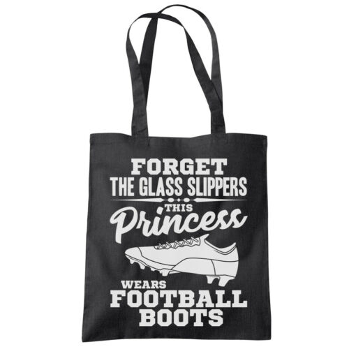This Princess Wears Football Boots Tote Shopping Bag football footie soccer
