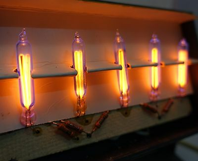 5 pcs RARE Neon nixie IN-3B-1 IN-3 B long tubes NEW, SOLDERED