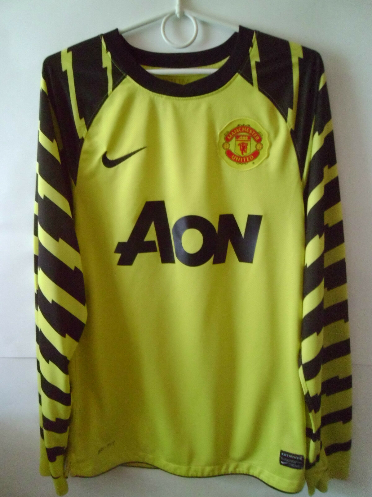 RARE    2010-11 Manchester United GK Goalkeeper Shirt Jersey S