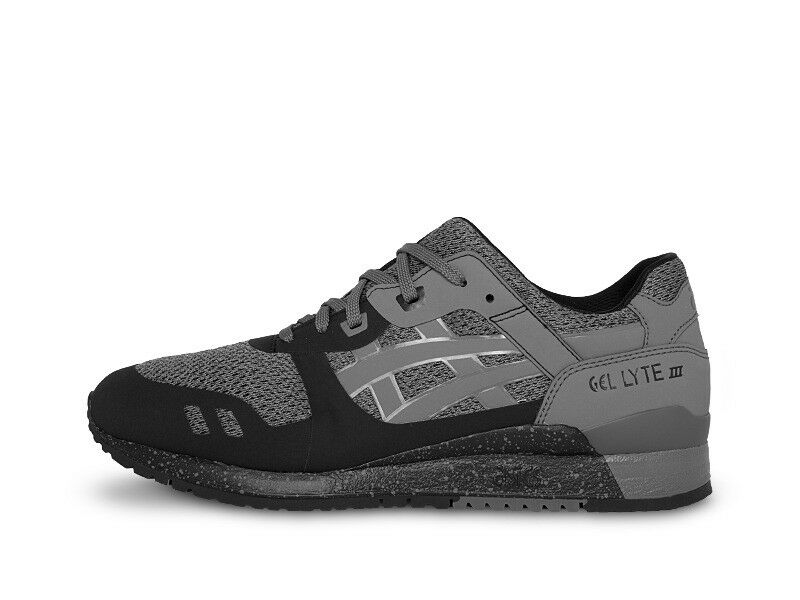 Asics Men's GEL-LYTE III NS NEW AUTHENTIC Black/Carbon H715N-9097 size 7.5