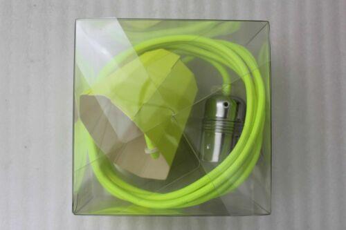 Kolor Câble Set avec deckenrose pour Ampoules e27 max 60 W Longueur de câble 2,5 m Jaune