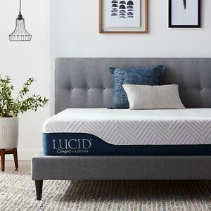 LUCID-Comfort-Collection-10-amp-12-034-Gel-amp-Aloe-Vera-Memory-Foam-Hybrid-Mattress