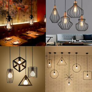 iron vintage pendant light modern ceiling lights bar lamp lighting
