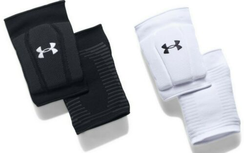 White Under Armour Kids UA Armour 2.0 Knee Pads Youth Volleyball 1294850 Black