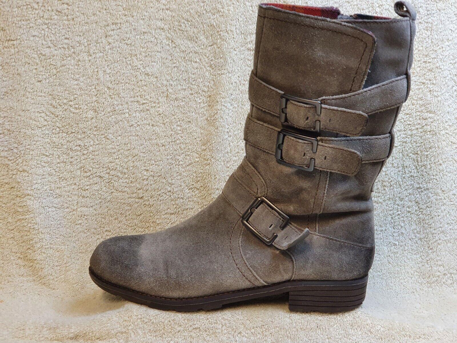 Clarks Plus mens Boots Suede Grey Zip UK 7.5 EUR 41.5