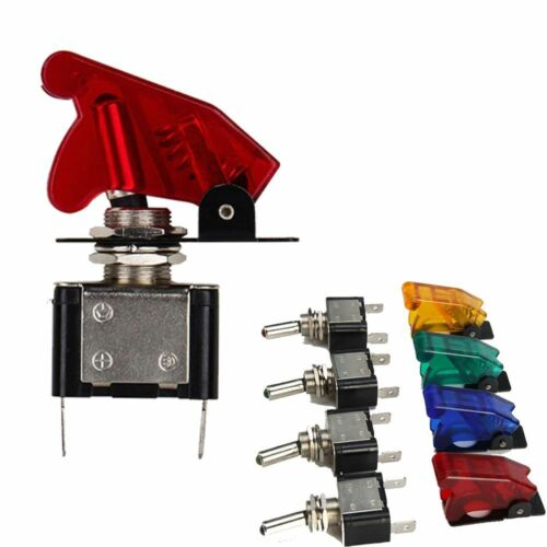Water Cover Flick 12V ON//OFF Car Light SPST Missile Heavy Duty Toggle Switch