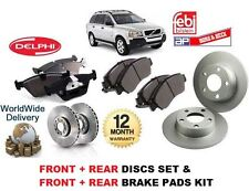 FOR VOLVO XC90 XC 90 2.4 T6 D5 02> FRONT + REAR  BRAKE DISCS SET + DISC PADS KIT