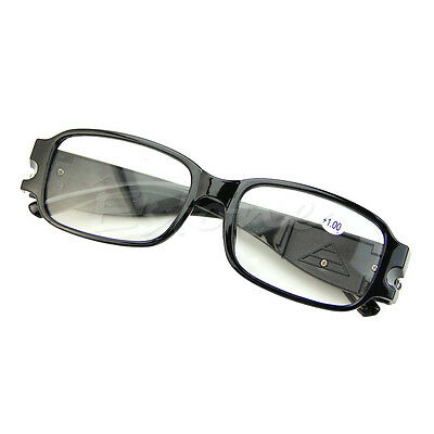 New Multi Strength Reading Night Vision Glasses Presbyopia Diopter Eyeglass LED
