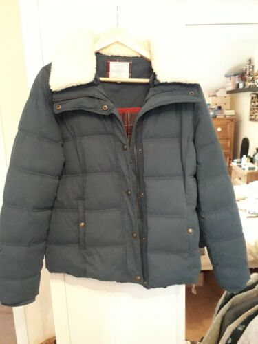Short 16 Jacket taglia Borg Collare Puffer Fat Bnwot Poppy Teal Face tfHHq0