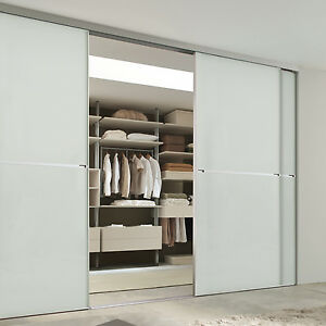 Image Is Loading Bespoke Sliding Bedroom Doors Silver Mirror High Quality
