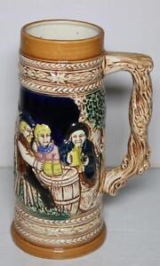 Vintage-Ceramic-Japan-9-034-German-Holland-Windmill-Pottery-Beer-Stein-Handled-Mug