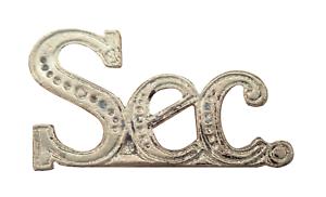 Sec Secretary Nickel-Plated Abbreviation For Orange Order Collarette