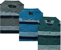 New Mens King Size Short Sleeve Summer Stripe Polo Shirt T- Shirt Top 3XL - 6XL