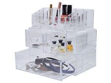 Gran Maquillaje Cosmético Acrílico 4 Cajón Almacenamiento Organizador De Pantalla Soporte Joyas