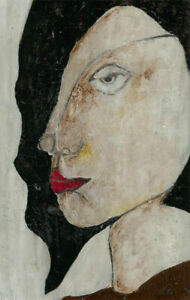 Ben-Carrivick-Signed-Contemporary-Oil-Red-Lips