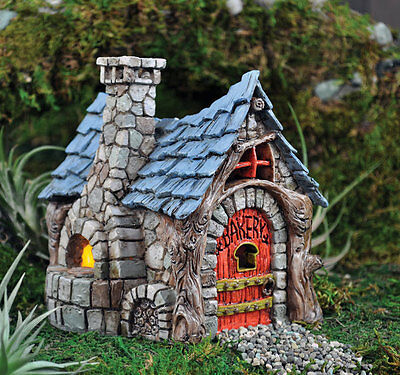 Miniature Fairy Garden Bakery W HINGED DOOR Faerie Gnome House Cottage GO 16546