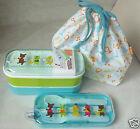 Japan Bento 2 Tier Lunch Box Set Belt fork spoon chopstick BAG kitchen ladies GN