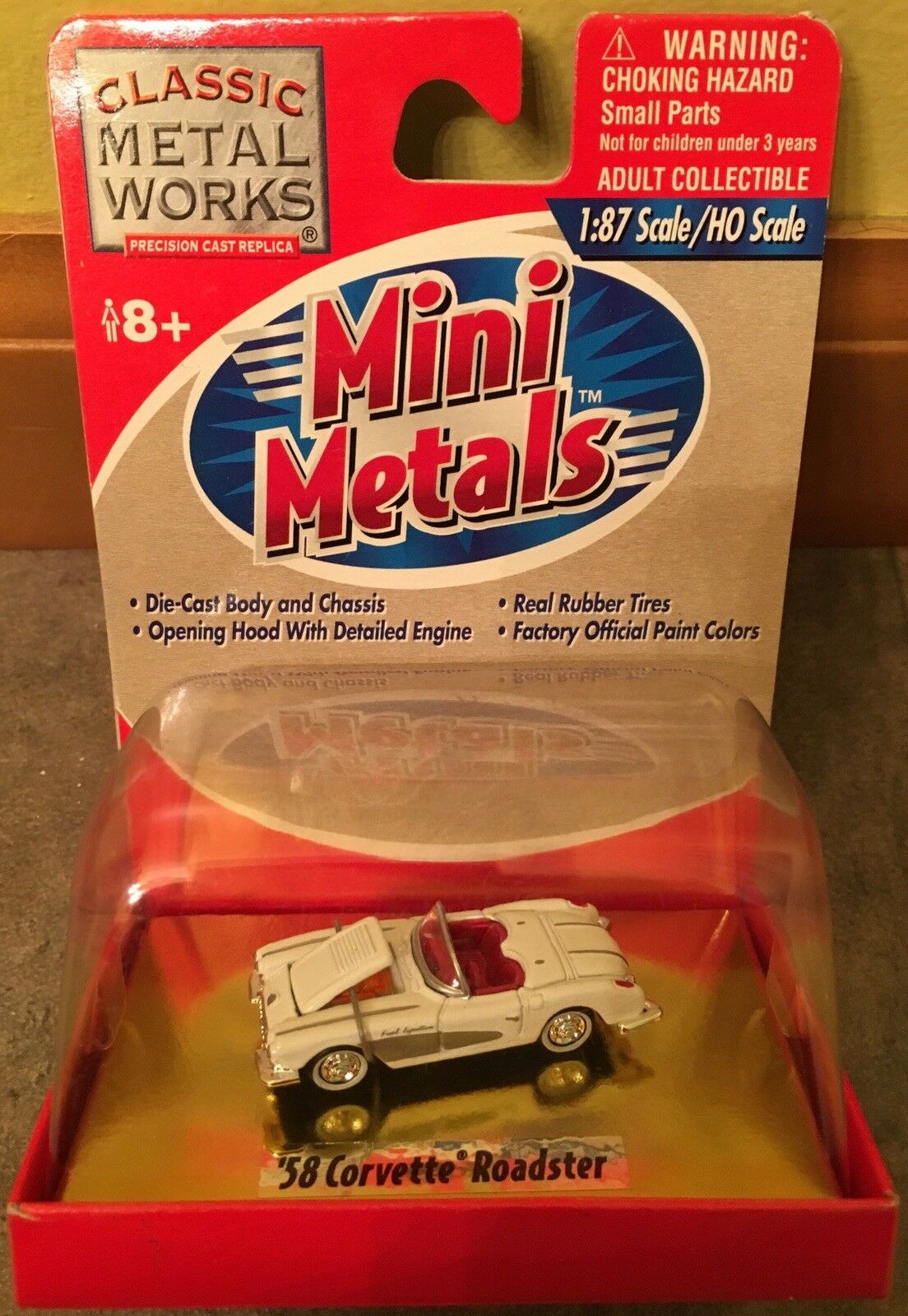 Seltene klassiker metall arbeitet 30140 58er corvette cabrio - mini - metalle