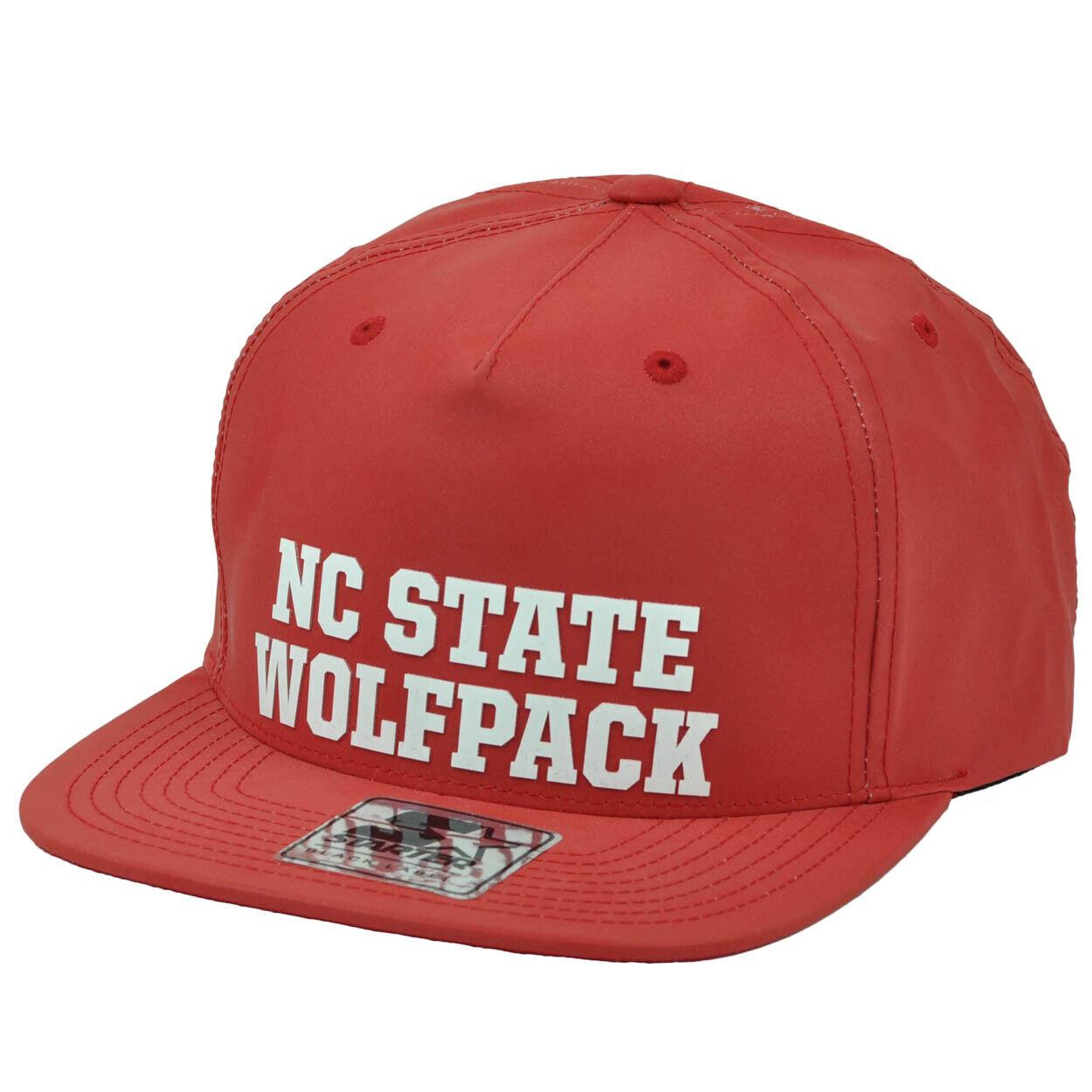 One Size Red NCAA North Carolina State Wolfpack Flat Brim Snapback Hat