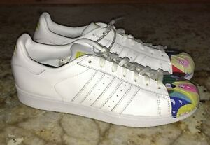9862aa67e16be Image is loading ADIDAS-White-Todd-James-Supershell-Superstar-Pharrell-Shoes -